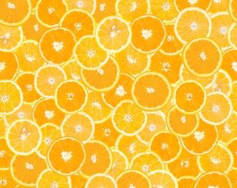 Summer Orange Slice Fabric - Oranges By Dalib0r - Summer Citrus Orange Cotton Fabric By The Yard With Spoonflower