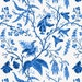 Chinoiserie Fabric - Chinese Garden In Cobalt By Willowlanetextiles- Blue and White Chintz Floral Cotton Fabric By The Yard With Spoonflower
