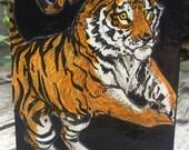 Hungry Tiger of OZ-Original Decoupage Art