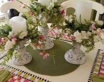 Set of 3 Custom made Farmhouse candle set