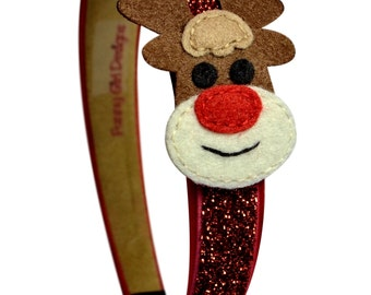 Sparkling Reindeer Christmas Headband for Toddlers & Girls  - Christmas Outfit