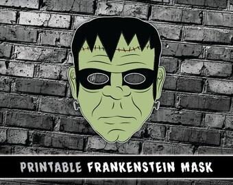 Frankenstein Mask | Frankenstein's Monster Mask | Halloween Mask | Instant Download