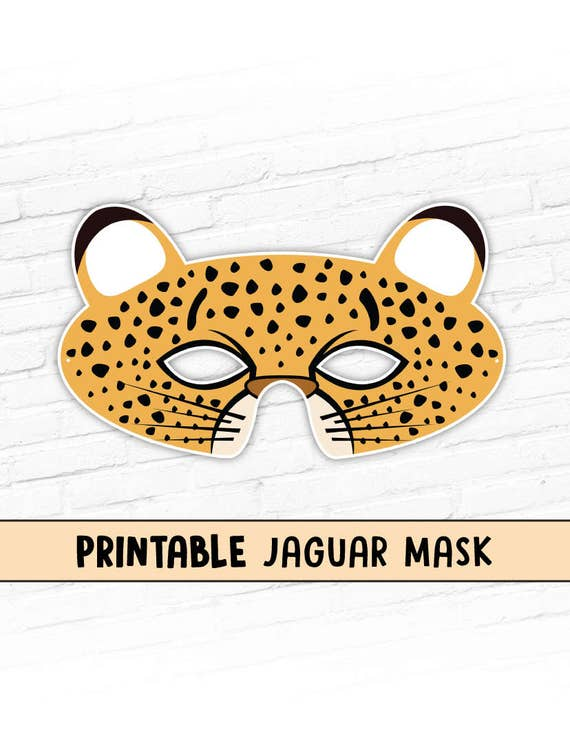 Printable jaguar mask pictures to pin on pinterest pinsdaddy for Sloth mask template