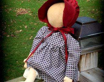 Primitive Sitting Prairie Doll
