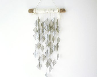 Silver Drapes, wall hanging, hanging mobile, home decor, wedding decor