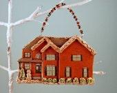 Custom House Ornament - New Home Ornaments, Christmas Ornaments, Hostess Gift, Christmas Decor, Home Decor, Clay House Ornament