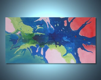 Original abstract painting wall art deco by Elsisy 48x24 Christmas sale