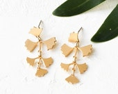 On Sale 40% Off Tropical Fern Earrings, Leaves Earrings, Leaf Earrings, Dangle & Drop Leaf Earrings, Tropical Nature Inspired Earrings, Stat