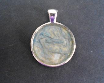 Blue & Silver Pendant - Small