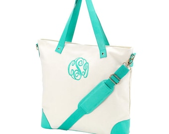 4 Mint green shoulder bag totes canvas mermaid beach wedding bags bridesmaids gifts bridal party gifts Outer Banks BeachHouseDreamsHome OBX
