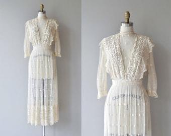 Celia Mae dress | antique 1910s silk lace dress | Edwardian embroidered net wedding dress