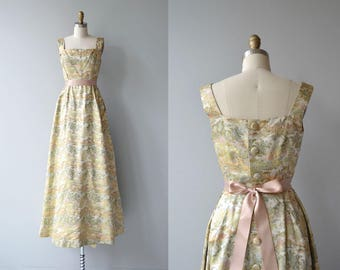 Imperiora dress | vintage 1950s brocade dress | long 50s party dress