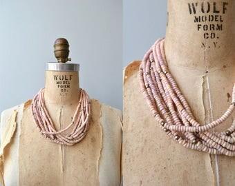 Quartzwood necklace | vintage wooden necklace | wood bead necklace