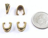 TierraCast Pewter Pendant Pinch Bails-GOLD ROYAL (4)