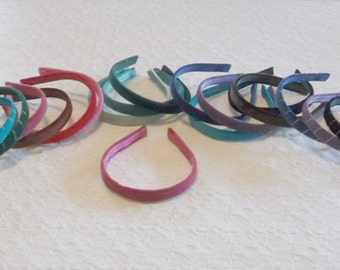 Preppy Narrow Velvet Headband in 12 Colors and Optional Gold Silver Wrap