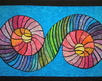 Colorful Abstract Wall Hanging Art Quilt