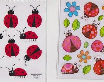 LADYBUG Stickers - Choose Sticker Style | Garden Spring Bug Scrapbook