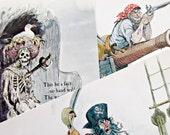 Vintage Postcards, Vintage Disneyland, Pirates of the Caribbean, Vintage Disney Postcards, 1960s Disneyland, Marc Davis Pirates Sketches