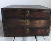 19th Century Dovetailed Mahogany Small Cabinet Makers/Jewelry Makers Chest