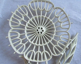Vintage Wall Decor Large Flower White