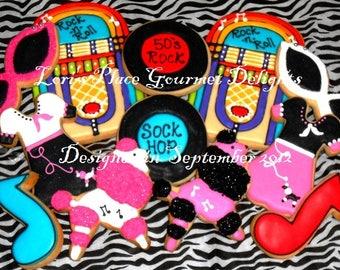 Sock Hop Cookies - 12 Cookies