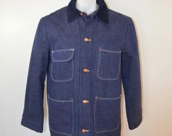 on sale Vintage BLUE BELL Denim chore jacket BLANKET lined sz. 38 made in usa nice!