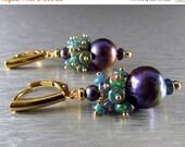 25% Off Black Ethiopian Opal And Black Freshwater Pearl GF earrings