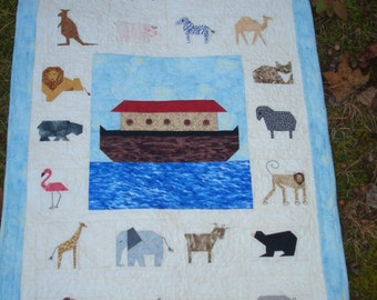 Noah's Ark Quilted Wallhanging