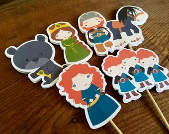 Brave Friends Party - Set of 12 Double Sided Assorted Merida & Friends Cupcake Toppers by The Birthday House