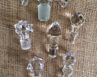 Vintage Perfume Bottle Stops/Perfume Bottle Tops/Perfume Bottle Stoppers