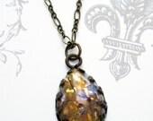 SALE 20% Off Opal Necklace - Victorian Jewelry - SOIREE Goldeneye