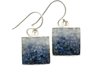 Mosaic Earrings - Lapis, Sodalite and Angelite