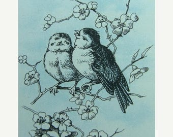 ONSALE Antique 5 Beautiful Bird Shabby Chic Images for Altered Art