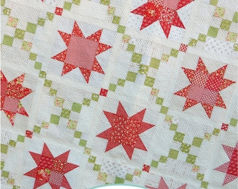 Sugar Pine Stars Quilt PDF Pattern
