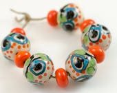 Branching out -- Artisan lampwork bead set