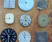 Vintage Antique Watch  Assortment Faces - Steampunk - Scrapbooking f29