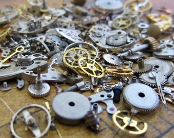Vintage WATCH PARTS gears - Steampunk parts - K15 Listing is for all the watch parts seen in photos