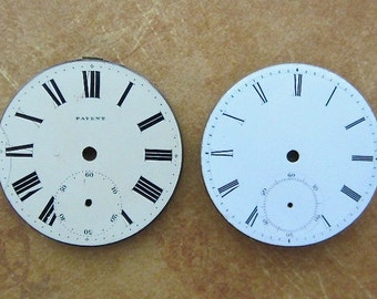 Vintage Antique porcelain pocket Watch Faces - Steampunk - Scrapbooking k17
