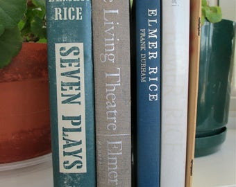 Elmer Rice (1893 - 1967) 5 books, American Dramatist of 30s Experimentalist Concerned LIberal Theater Activist Playwrights Company Producer
