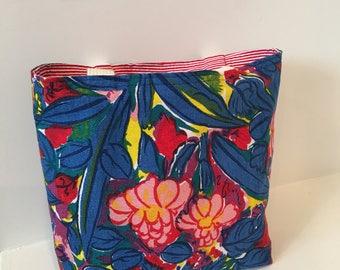 Vintage Tropical Fabric Tote/ Purse/ Handbag