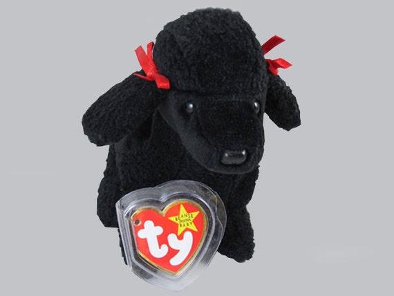 1997 Ty Original Beanie Baby Gigi black poodle dog plush toy stuffed animal