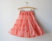 Vintage Peach Colored Crinoline / Petticoat / 1950s 50s  Crinoline