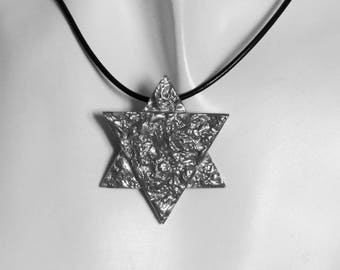 Star of David for men, necklace for men, Shield of David, Judaica jewelry, Gift for men.