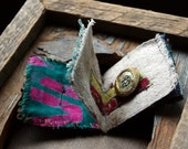 The Inner Life of Books--Tiny Fabric/Textile Book/Art Object