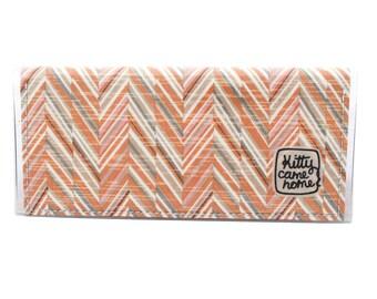 Bi-fold Clutch - Autumn textures - vintage fabric