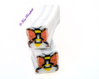 Bumble Bee Polymer Clay Cane, Raw polymer Clay Cane, Millefiori Polymer Clay