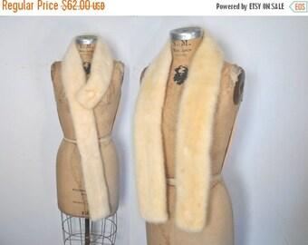 25% OFF BLONDE Mink Fur Collar Scarf / wedding bridal