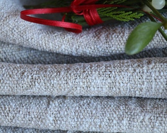 R 93 : antique handloomed  10.93 yards french 리넨  upholstering curtain projects twill looking texture BROWNISH