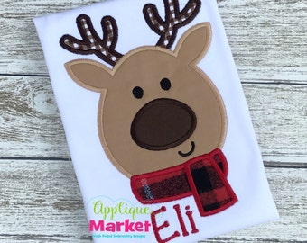 Machine Embroidery Design Embroidery Reindeer Scarf INSTANT DOWNLOAD