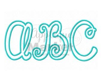 Machine Embroidery Design Happy Day Applique Alphabet Font INSTANT DOWNLOAD